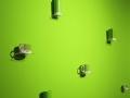 Die Pantonefarbe 2017 Greenery ist wirklich überall auf der Ambiente präsent.
